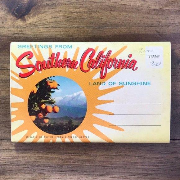 Vintage Other - Vintage Southern California Travel Postcard Book